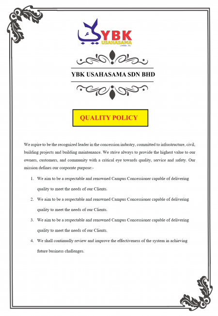 Quality Policy YBKU